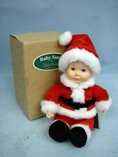 """Anne Geddes 8"""" Baby Santa #F734841 Mib"""