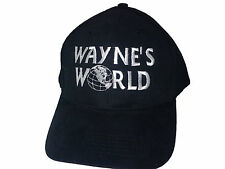 New Wayne's World Black Embroidered Quality Hat Baseball / Outdoor Cap