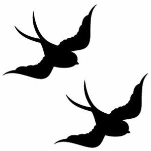 Qty 2 Bird Window Stickers, Anti Bird Strike Window Decal Pack L Any Colour