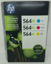 HP 564XL 3 Pack Cyan Magenta Yellow High Yield Ink Warranty expired October 2016