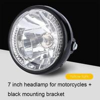 "7"" Motorcycle Headlight Round LED Turn Signal Indicators Light 35W Universal AU"