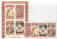 Tanzania: Complete set and souvenirs sheet thematic flowers mint Nh. TA05