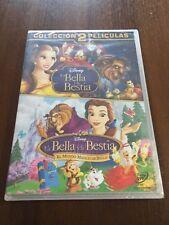 LA BELLA Y LA BESTIA + EL MUNDO MAGICO DE BELLA - 2 DVD - 176 MIN - NEW SEALED