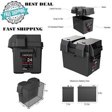 New Snap-Top Battery Box For Automotive Marine & RV Batteries HM300BKS Group 24