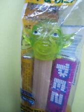 pez  rare YODA CRISTAL vert no feet , sans pieds premiere version année 95/2000