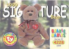 Ty Beanie Babies Bboc Card - Series 2 Common - 1999 Signature Bear - Nm/Mint