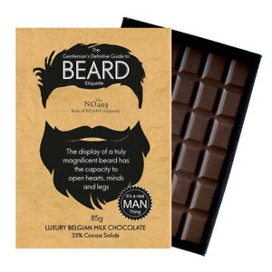Novelty Chocolate Gifts Bearded Men Him Funny Rude Greeting Silly Beard Card Bar