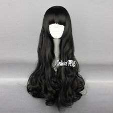 RWBY Blake Belladonna 70CM Black Long Curly Popular Anime Cosplay Wig + Cap