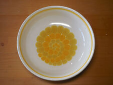 "Franciscan USA SUNDANCE Round Vegetable Serving Bowl 9"" Yellow Spiral 1 ea"
