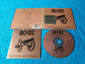 AC/DC - For Those About To Rock - CD (Epic Digipack 2003)