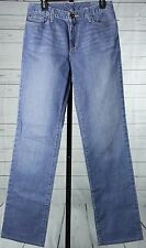 EDDIE BAUER Natural Fit Straight Stretch  Denim Jeans Womens Size 8 long