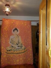 Vintage Indian cotton Boho Buddha Wall hanging campervan  Throw Bedspread Hippy