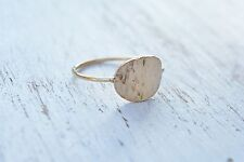 Gold Filled Ring Ellipse Statement Dainty New WOMEN Ring Style