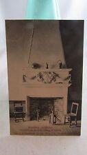 cpa 07 serrieres  interieur chateau de soubise cheminee