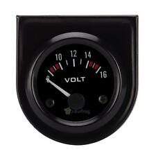 Black Face 2 Inch 52mm Voltmeter Volt Voltage Gauge Meter 12V LED Boat CAR AUTO