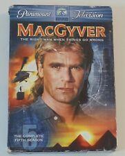 MacGyver 1985 Tv series Fifth Season Dvd 6-Disc Set Richard Dean Anderson