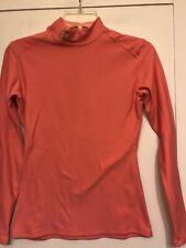 Under Armour Eomens Compression Coldgear Turtleneck Long Sleeve Pink Shirt Med