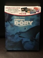DISNEY FINDING DORY EXCLUSIVE STEELBOOK w/ 4 LITHOGRAPH CARDS BLU RAY + DVD NEW