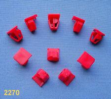 (2270) 10x Zierleistenklammern Clip Klip Zierleisten halter rot für Accord, CRV,
