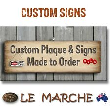 CUSTOM Rustic Wooden Plaque / Sign Made to Order - IMAGE &/or TEXT (FREE POST) B