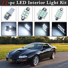 11-pc White LED Interior Light Bulb Package Kit Fit 93-02 Chevrolet Chevy Camaro