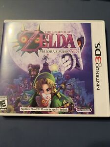 majoras mask 3ds with case game and manual