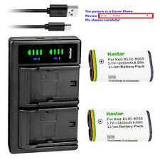 Kastar Battery LTD2 Charger for Kodak KLIC-8000 & KODAK Pocket Video Camera ZXD