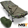 NGT 6 LEG RECLINER BED CHAIR , NGT XPR CAMO 5 SEASONS SLEEPING BAG CARP FISHING