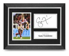 Sam Tomkins Signed A4 Framed Photo Display Wigan Warriors Autograph Memorabilia