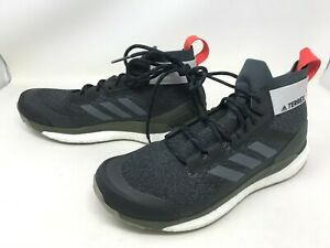 Mens Adidas (D98046) Terrex Free Hiker Black/Gray Shoes (448E)
