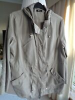 M&Co Hooded Lightweight Coat in Beige With Fold Up Sleeves Size 20 - Excellent