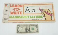 Learn To Write - Letters Milton Bradley 1978 Child Learning For Crayons Wipe Off