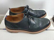 Mens J Crew Superior Lace Up Wingtip Shoes Size 10 D - gray/blue color mint cond