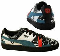 Puma Basket Graphic x Shantell Martin Black Leather Mens Trainers 366531 02 B97D