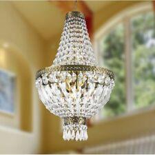 "5-Light Antique Bronze Finish D 12"" x H 20"" Metropolitan Crystal Chandelier Mini"