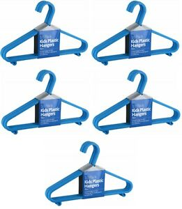 50 x Children Plastic Hangers Coat Clothes Baby Kids Laundry Hanger Bright Blue