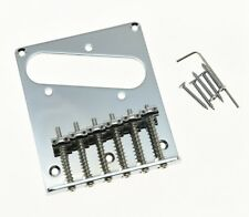 Tele Single Coil Guitar Bridge with 6 Individual Saddles Chrome for Telecaster