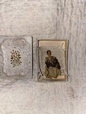 Antique Rare Folk Art Paper Mache Miniature Doll