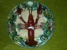 "Vintage Majolica Lobster wall Plate 10 "" / 16  cm   Portuguese Palissy -  ?"