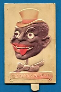 "GREAT OLD POSTCARD BLACK AMERICANA MECHANICAL ""SHAKE ME"" CARD 1908"