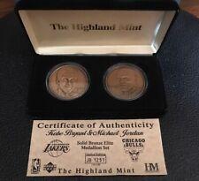 RARE Highland Mint Kobe Bryant and Michael Jordan Bronze Coin Set Limited 1750