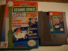 Sesame Street ABC (Nintendo Entertainment System, 1989) Game and Box NES