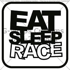 "Car sticker EAT SLEEP RACE universal for all cars 6"" vinyl High quality JDM"