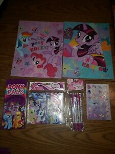My little pony folder note pad stickers pencils box back to school supplies