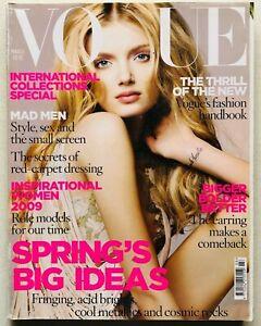 Vogue UK magazine march 2009 marzo Lily Donaldson Nick Knight Fashion