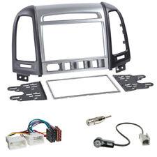 2-DIN Radioblende silber/schwarz Hyundai Santa Fe 4 Schalter ab 2011+ISO Adapter