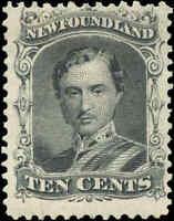 Canada Mint H Newfoundland 10c 1865-1894 F Scott #27 Prince Albert Stamp
