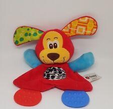 Doudou plat chien rouge bleu vert orange plaque dentition coccinelle SOZZY NEUF