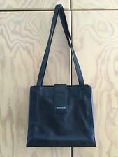 Tula Black Leather And Nylon Shoulder Bag With Velvet Lining