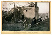 Antique WW1 military postcard The Prince of Wales Pays A Visit To The Trenches